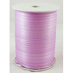 "Ruban de satin à face unique, Ruban de polyester, lilas, 1/8"" (3mm) de large; à propos de 880yards / roll (804.672m / roll)(RC3mmY045)"