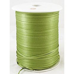 "Ruban de satin à face unique, Ruban de polyester, 'Chartreuse , 1/8"" (3mm) de large; à propos de 880yards / roll (804.672m / roll)(RC3mmY052)"