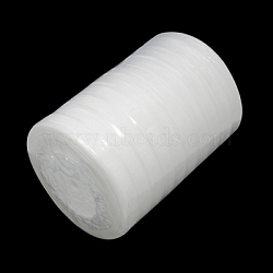 """Ruban d'organza, blanc, 3/8"""" (10 mm); 50yards / roll (45.72m / roll), 10 rouleaux / groupe, 500yards / groupe (457.2m / groupe)(RS10mmY001)"""