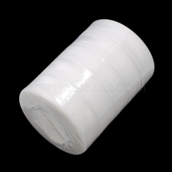 Sheer Organza Ribbon, Wide Ribbon for Wedding Decorative, White, 1 inches(25mm), 250Yards(228.6m)(RS25mmY001)