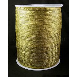 """Ruban métallique pailleté, Ruban scintillant, matériel de bricolage pour organza arc, Double Sided, dorée, Taille: environ 1/8"""" (3mm) de large, 880yards / roll (811.98m / roll)(RS3mmY-G)"""