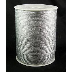 """Ruban métallique pailleté, Ruban scintillant, matériel de bricolage pour organza arc, Double Sided, argent métallique couleur, Taille: environ 1/8"""" (3mm) de large, 880yards / roll (811.98m / roll)(RS3mmY-S)"""