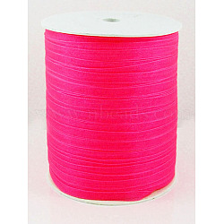 "Ruban d'organza, rose foncé, 1/4"" (6 mm); 500yards / roll (457.2m / roll)(RS6mmY014)"