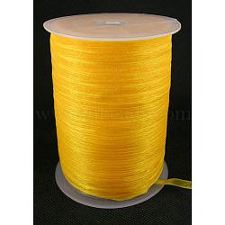 """Ruban d'organza, orange, 1/4"""" (6 mm); 500yards / roll (457.2m / roll)(RS6mmY016)"""