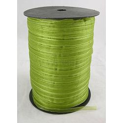 "Ruban d'organza, 'Chartreuse , 1/4"" (6 mm); 500yards / roll (457.2m / roll)(RS6mmY052)"