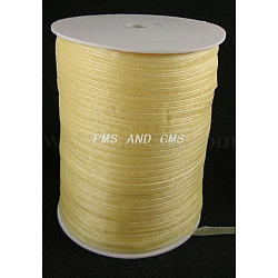"Ruban d'organza, palegoldenrod, 1/4"" (6 mm); 500yards / roll (457.2m / roll)(RS6mmY073)"