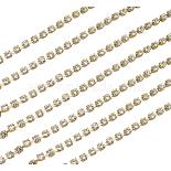 Brass + Rhinestone Rhinestone Chains Chain(RSB350-2mm06A)