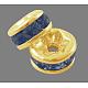 Brass Grade A Rhinestone Spacer Beads(RSB038NF-14G)-1