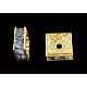 Brass Rhinestone Spacer Beads(RSB074NF-14G)-1