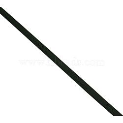 Cordon en caoutchouc synthétique, sans trou, plat, noir, 6x2 mm; environ 106~120 m / 2000 g(RW0010-2)