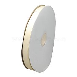 """Ruban gros-grain, blanc crème, 3/8"""" (10 mm); environ 100yards / rouleau (91.44m / rouleau)(RW10mmY008)"""