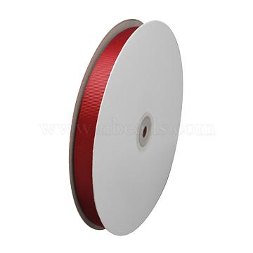 Grosgrain Ribbon, Christmas Ribbon, Dark Red, 1/4 inch(6mm), about 100yards/roll(91.44m/roll)(RW6mmY048)