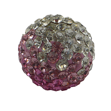 Austrian Crystal Beads, Pave Ball Beads, with Polymer Clay inside, Round, about 10mm in diameter, hole: 1mm(SFR10MMC015)