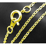 1.5mm Gold Brass Necklace Making(SW028-G)