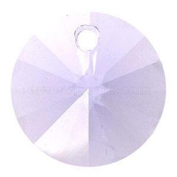Austrian Crystal, 6428 Xilion Rivoli Pendant, 371_Violet, Size: about 8mm in diameter(SWAR-6428-8MM-371)