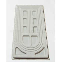 Plastic Bead Design Boards, Beads Trays, Gray, Size: about 27cm wide, 49cm long, 2cm thick(TOOL-H001-1)