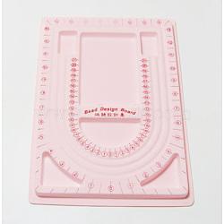 Panneaux en plastique de conception de perles, rose, taille: environ 24 cm de large, 33 cm de long, 1 cm d'épaisseur(TOOL-H003-2)