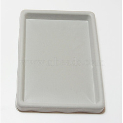 Plastic Bead Design Boards, Rectangle, Gray, 27x20x2cm(TOOL-H004-1)