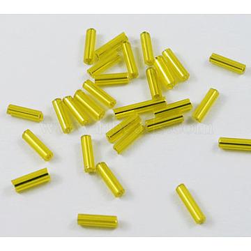 6mm Yellow Glass Beads