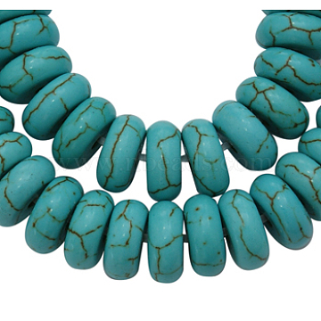 8mm Turquoise Abacus Howlite Beads