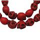 Halloween Skull Synthetic Howlite Beads(TURQ-12X10-3)-1