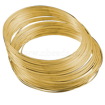 Steel Memory Wire,for Collar Necklace Making,Necklace Wire,Golden,115x1.8mm,130 circles/1000g(TWIR-ZX002-1.8MM-G)