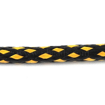 Korean Waxed Polyester Cord, Yellow and Black, Size: about 3mm thick, 47yards/roll(YC-3MM-6)