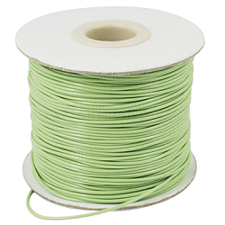 Korean Waxed Polyester Cord, YellowGreen, 1mm; about 85yards/roll(YC1.0MM-32)