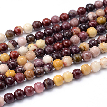 Round Natural Mookaite Beads Strands, 8mm, Hole: 1mm; about 46pcs/strand, 15.7inches(G-F216-8mm-19)