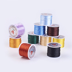 Flat Elastic Crystal String, Elastic Beading Thread, for Stretch Bracelet Making, Mixed Color, 0.5mm; about 45m/roll(EW-P002-0.5mm-A)