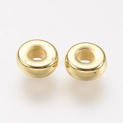 CCB perles en plastique, rondelle, or, 6x2.5mm, Trou: 2mm(CCB-P004-19G)