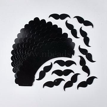 Paper Cake Border & Paper Cake Topper Decoration, Mustache, Black, 52x215x0.2mm(AJEW-K025-02A)