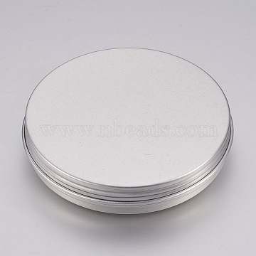 Flat Round Aluminum Jewelry Box