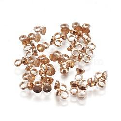 bails pendentif en laiton, pour les pendants de couverture de bulle de verre de globe, or et de lumière, 4x2.8 mm, trou: 1.6 mm(KK-F792-06LG)