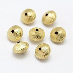 Perles en laiton texturées, sans nickel, Toupie, non plaqué, 10x7mm, Trou: 2mm(KK-P095-48)