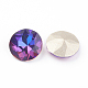 Pointed Back & Back Plated Glass Rhinestone Cabochons(X-RGLA-J012-8mm-001VB)-2