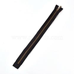 аксессуары для одежды, нейлоновая застежка-молния, с металлическим съемником молнии, застежка-молния, античная бронза, черный, 33.7x2.8~2.9x0.2 mm(FIND-WH0028-03-C07)