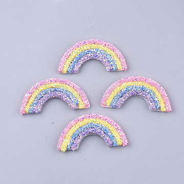 Non Woven Fabric Costume Accessories, with Sequins/ Paillettes and Plastic, Rainbow, Colorful, 29~30x60~62x5mm(X-FIND-T056-01)