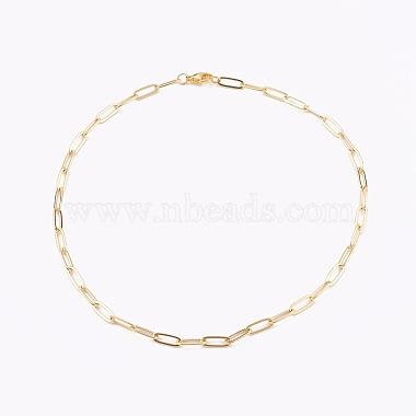 Brass Pendant Necklaces & Paperclip Chain Necklaces Sets(NJEW-JN03334)-3