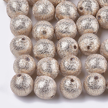 13mm NavajoWhite Round Polyester Beads