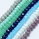 Faceted Rondelle Glass Beads Strands(GLAA-I033-4mm-M)-1