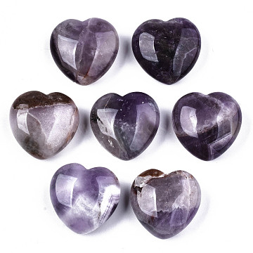 Natural Amethyst Display Decorations, Heart, 29~29.5x30~31x12~15mm(X-G-S330-13A)