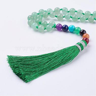 Nylon Tassle Pendant Necklace(NJEW-F159-B02)-2