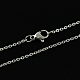 Classic Plain 316 Stainless Steel Mens Womens Cable Chains Necklaces(STAS-S029-02)-2