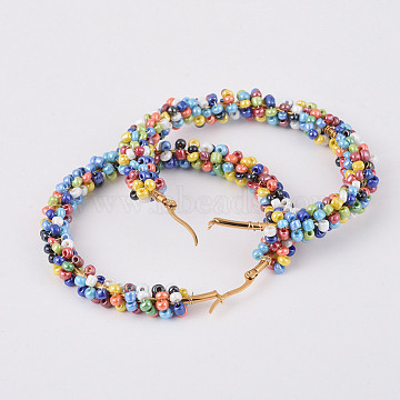 Colorful Seed Beads Earrings
