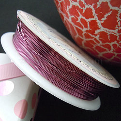 Copper Jewelry Wire, Flamingo, 22 Gauge, 0.6mm; 6m/roll(CWIR-CW0.6mm-19)