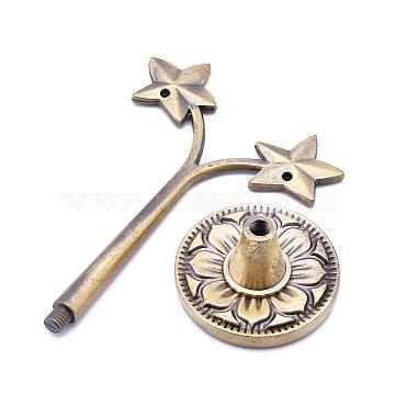 Star Shape Alloy Earring Jewelry Display Rack, Antique Bronze, 38x60x100mm(EDIS-K002-09AB)