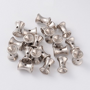 CCB Plastic Beads, Funnel, Platinum, 15x11mm, Hole: 2mm; Tray: 8mm(CCB-K007-016P)