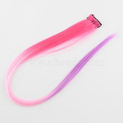 Accessoires de cheveux de mode pour femmes, pinces à cheveux à pression de fer, avec nylon coloré perruques de cheveux, Prune, 47 cm(PHAR-R125-12)