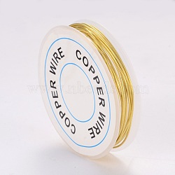Copper Jewelry Wire, Gold, 18 Gauge, 1mm; 2.5m/roll(X-CWIR-CW1mm-07)